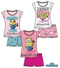 Pyjamas bleu manches courtes pour fille de 2 à 16 ans