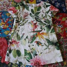 NEXT 12-18 GIRLS FLORAL SUMMER DRESS BIRD OF PARADISE HOLIDAY