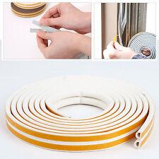 Bande joint caoutchouc protection boudin Fenetre Porte 6M Forme Profile D Blanc