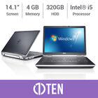 """DELL Latitude E6430 E6420 14"""" Laptop i5 3.20 GHz 4GB RAM 320GB HDD SSD WIN 7 PRO"""
