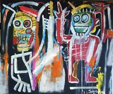 "Original huile Mario Mendoza ""dustheads, 1982"" Jean-Michel Basquiat style peinture"