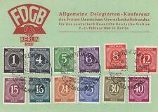 Allemagne (zone alliée): conférence de délégation générale 1946 carte utilisée