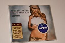 BRITNEY SPEARS FEATURING MADONNA Me Against The Music CD Single UK