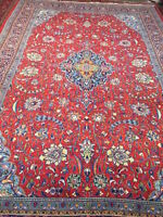 "7'9"" x 11'8"" Traditional Turkish Floral Oriental Rug - Hand Made - 100% Wool"