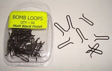 Bomb loops - Matt Black -  50 Stainless steel for lead weights