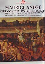 disque 33 tours - maurice andré - 4 concertos pour trompette : haydn mozart ...