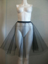 Black Net Evening Ball PLUS SIZE Vintage 50's 60's Underskirt Prom & Wedding