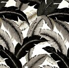 Outdoor/ Indoor~Upholstery~SWAYING PALMS~ Black-Grey-White- Fabric~ per 1 yard