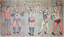 Five Celebrated Scary Clown Faces Sands Circus Art Posters Prints Creepy Clowns