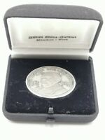 SILBER 999 - MEDAILLE IN SCHATULLE 1977 PROF. LUDWIG ERHARD