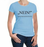 Damen Kurzarm Girlie T-Shirt Nein-Zitat von Shakespear Ablehnung Sprüche