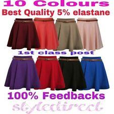 Jersey Patternless Unbranded Short/Mini Skirts for Women