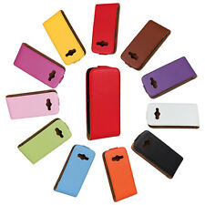 New For Samsung Galaxy Ace 4 G313 Genuine Leather Flip Case Open Up Protector