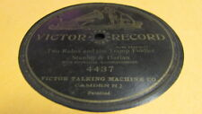 STANLEY & HARLAN VICTOR 78 RPM RECORD 4437 TWO RUBES AND THE TRAMP FIDDLER