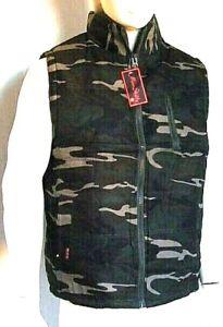 Giaccone Uomo Giubbotto Militare Gilet Camouflage B334-F5 Tg 2XL 3XL 4XL veste -