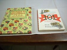 Cookbook Xmas: Xmas 101 Rick Rodgers & Holidays in Cross Stitch 1990 (#375)