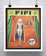 Fifi Vintage Freak Show Poster Rolled Canvas Giclee Print 24x28 Inches