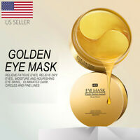 USA 60Pcs Gold Hydrogel Eye Patch Eye Mask Collagen Gel Under Eye Pads Firming