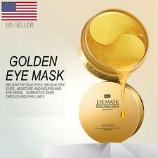 USA 60Pcs Gold Hydrogel Eye Patch Eye Mask Collagen Gel Under Eye Pads Firming