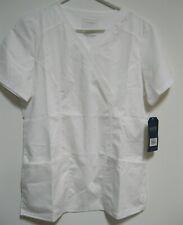 New listing Cherokee Work Wear White Scrubs Top Size Small Revolution Www610 Brand New!