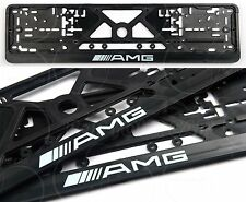 2pcs AMG Mercedes Benz fur all model Euro Standart License Plate Frames 2pcs