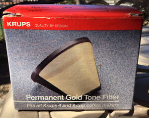 Krups 48603 art #052o-33 571 Permanent Gold Tone Coffee Maker Filter New In Box