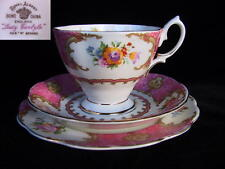Royal Albert  LADY CARLYLE 3 pc Trio Tea Cup Saucer 1s Eng 1940's reg no 855022