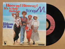 """DISQUE 45T  DE BONEY M.   """" HOORAY ! HOORAY ! IT'S A HOLI-HOLIDAY  """""""