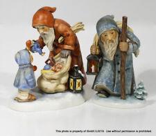 2 Vtg Goebel Hummel Santa Figurines Father Christmas 473, St. Nicholas Day 2012