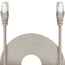 10m Grey CAT6 Internet Ethernet Network LAN Patch Cable Lead Wire GIGABIT 24awg