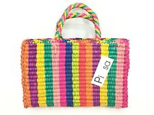Pitusa PINATA Straw Tote Bag - Multi - RRP £151 - New