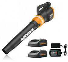 WG546.2 WORX 20V Cordless Turbine Leaf Blower with (2) Batteries Included!