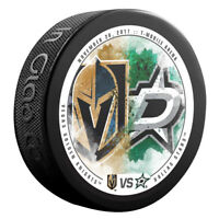 VEGAS KNIGHTS vs DALLAS STARS Souvenir NHL Matchup Hockey Puck 11/28/17