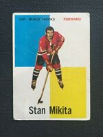 1960-61 Topps Stan Mikita Rookie Card RC #14 Chicago Blackhawks HOF