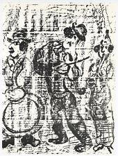 "Marc Chagall original lithograph ""The Vagabond Musicians"""