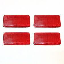 4x Autoadhesivo Rojo Rectangular Remolque TRANSPORTER Camión reflectantes Man