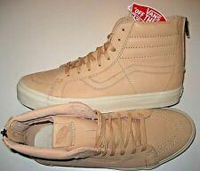 Vans Sk8-Hi Reissue Zipper Mens Veggie Tan Leather Skate shoes Size 11.5 NWT