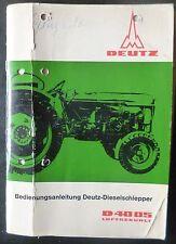 Deutz rimorchiatori d4005 manuale di istruzioni