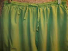 Lime green BH Scrubs pants nurse dental straight leg elastic drawstring waist XL