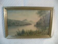 VINTAGE LISTED ARTIST ERNST ZIMMERMAN ? WATERCOLOR PAINTING OF POTOMAC RIVER ?