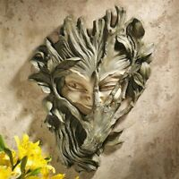 Bashful Wood Sprite Greenwoman Design Toscano Exclusive Wall Sculpture