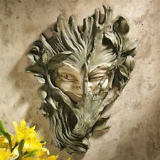 Bashful Wood Sprite Greenwoman Design Toscano Exclusive Wall Sculpture
