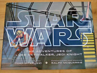 STAR WARS The Adventures of Luke Skywalker Jedi Knight BIG HB Book Illustrated