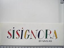 Aufkleber Sticker Mode Sisignora - Mode - Italy - Outlet - MVG AG (S1059)
