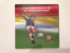 """""""2 EURO"""" Fußball-Proben-Satz 2006 zur Weltmeisterschaft im Folder, Schnäppchen !"""