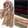 Lace Plain Cotton Shawl Scarf Hijab Sarong Wrap Cape Big Large Maxi 190×90cm