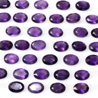 Wholesale Lot 6x4mm, 7x5mm Oval Facet African Amethyst Loose Calibrated Gemstone