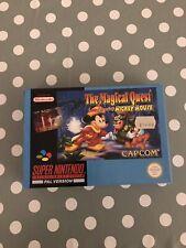 SNES The Magical Quest starring Mickey Mouse. Super Nintendo Cib  Vgc