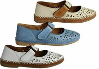 NEW ORIZONTE DAWN WOMENS EUROPEAN COMFORTABLE MARY JANE LEATHER FLAT SHOES
