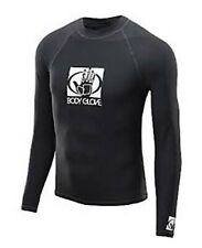 Mens Body Glove Basic Long Sleeve Rash Vest Guard Black